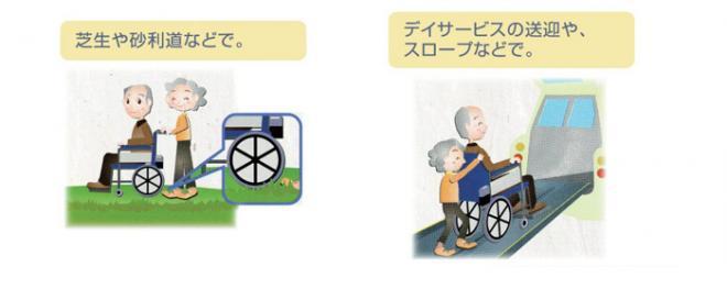 【電動車椅子】BM16-40(38・42)SB-M-ABF2/AWの使用イメージ